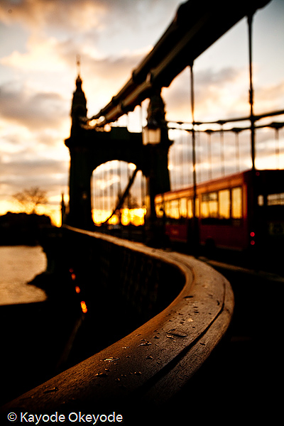 London Hammersmith Bridge Sunset (December 2008)