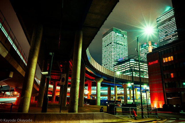 DLR Ride Into Canary Wharf
