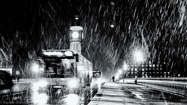 London When It Snows: Bus 453